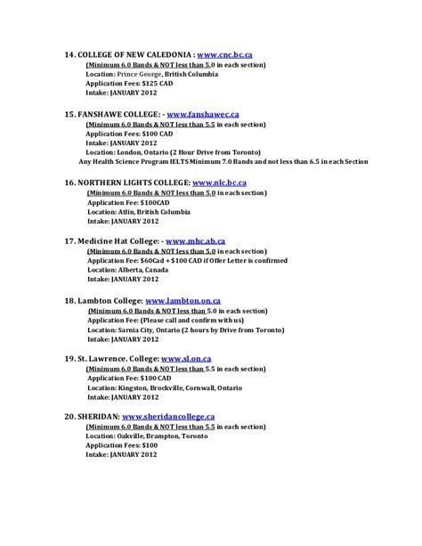 Spp College List Canada spp college list canada