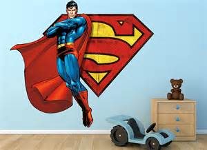 superman wall sticker superman flying symbol wall decal