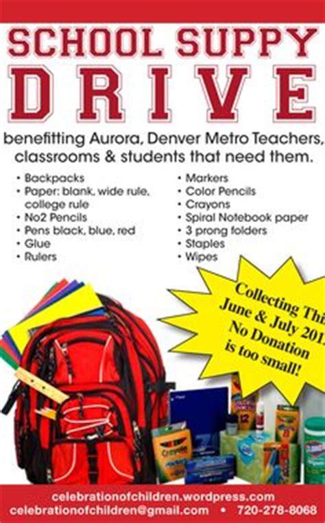 school supplies flyer template design collection drive on pinterest school supplies food