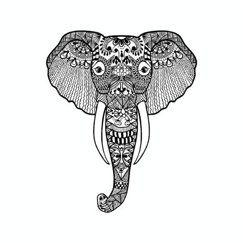 elephant mandala art tribal vinyl car sticker doggy