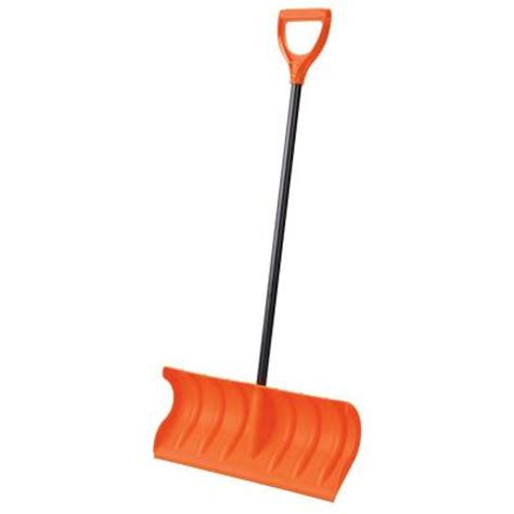 orbit 24 in pusher snow shovel 80052 the home depot