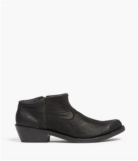 cowboy ankle boots for anine cowboy ankle boots in black lyst
