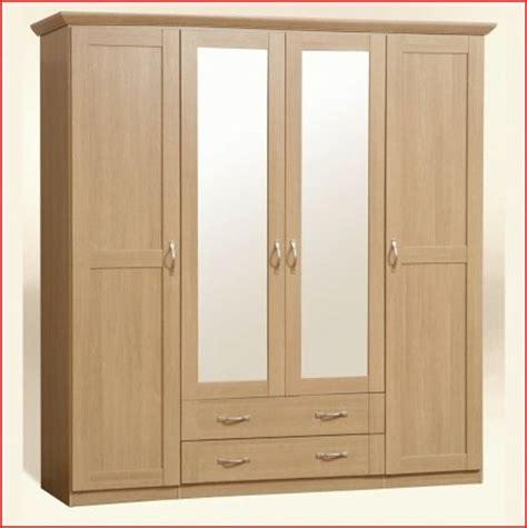 Light Oak Wardrobe by 4 Door Wardrobe Light Oak Bedroom Furniture 212cm Ebay
