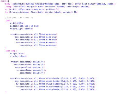 Format Tilan Gambar Pada Web | membuat efek transition pada gambar kursus web design