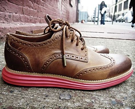 Dress Shoe Nike Sole by Cole Haan Nike Leather Lunargrand Wingtip Hhmmmm Pink Sole Thoughts Habiliments