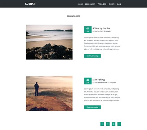 free template for html kubrat free html5 responsive template creative beacon