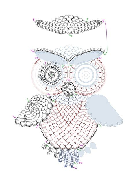 crochet pattern and diagram crochet owl pattern by tasamajamarina deviantart com on