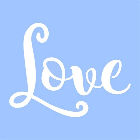 background pattern word 2010 3 quot love stencil word stencils template paint craft art