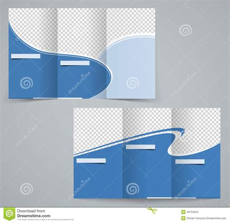 three fold business brochure template corporate flyer or