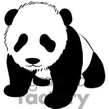 Panda Outline Drawing by 1000 Images About Alex Ubonpatsiri On Pandas Silhouette And Search