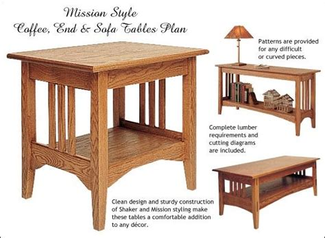 woodworking plans side table mission style end table plans diywoodtableplans