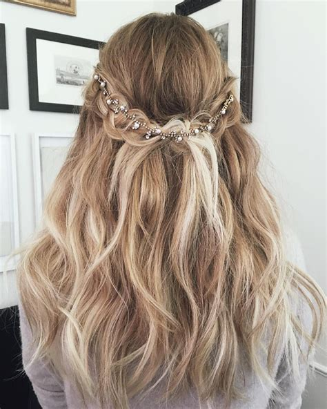 Ombre Half Up Half Down Hairstyles | lauren conrad blonde ombre half up half down wavy long