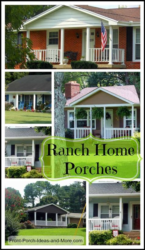 Home Plans With Front Porches by Ranch Home Porches Add Appeal And Comfort