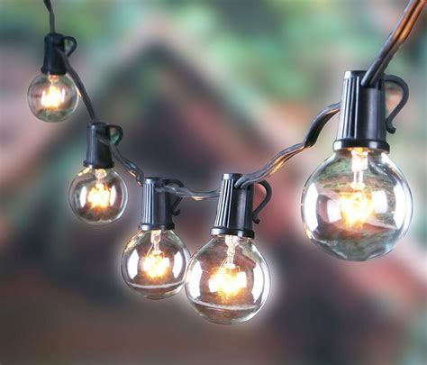 string outdoor patio lights outdoor g40 string lights vintage backyard patio lights