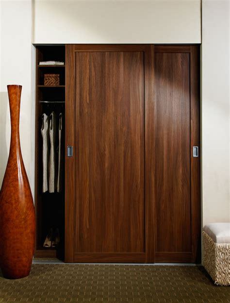 Sliding Wood Closet Doors Sliding Doors Shaker Wood Frame