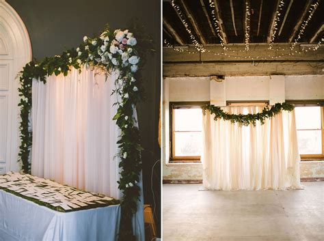 curtain backdrops for weddings pipe and drape wedding backdrop decorated with garland