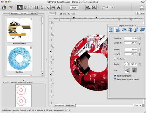 Cd Dvd Label Maker For Mac Free Download And Software Reviews Cnet Download Com Studio Label Templates