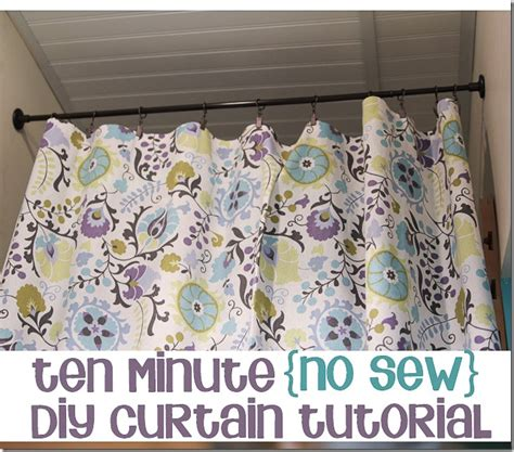 how to make simple curtains without a sewing machine tutorial 10 minute no sew diy curtain unskinny boppy
