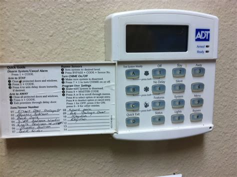 free adt premise pro keypad manual programs