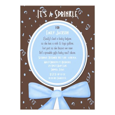 Baby Boy Sprinkle Shower by Baby Sprinkle Invitation Baby Boy Shower 5 Quot X 7