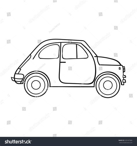 Outline Style Auto by Italian Retro Car Italy Icon Outline Stock Vector 529187980