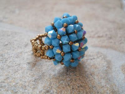 22 best Vintage Style Bead Rings images on Pinterest   Beaded rings, Pearl rings and Bead jewelry