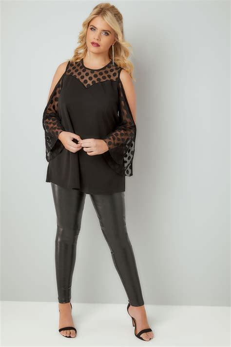 limited out 3 days in row limited collection black open arm top with spot mesh