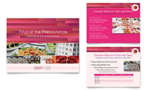 Corporate Event Planner Caterer Powerpoint Presentation Template Design Event Management Presentation Template