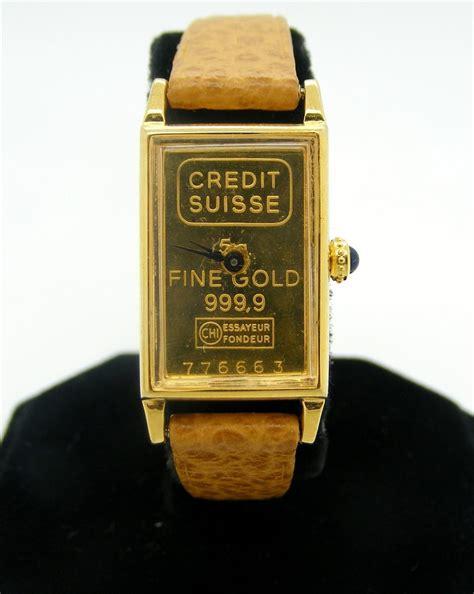 Credit Suisse 2 credit suisse 999 9 gold wrist
