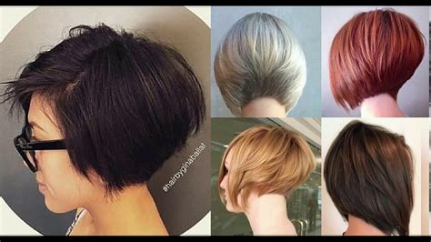 bob haircuts on youtube short stacked layered bob haircut youtube