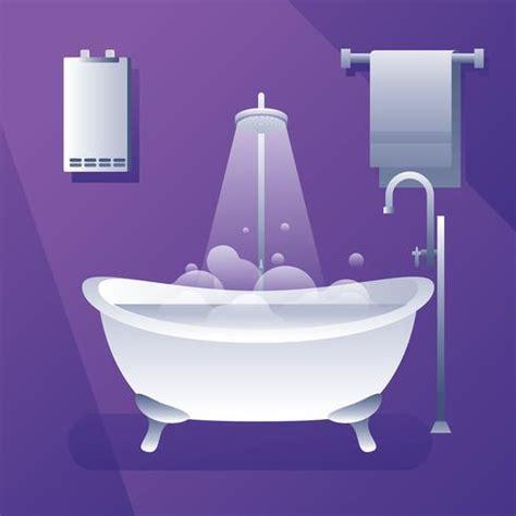 bathtub water warmer water heater bath tub free vector download free vector