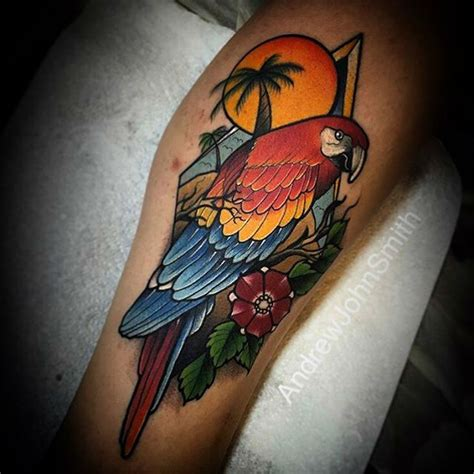 parrot tropical tattoo best tattoo ideas gallery