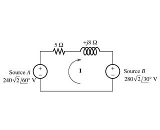 power absorbed by inductor determine the power for source a source b the chegg