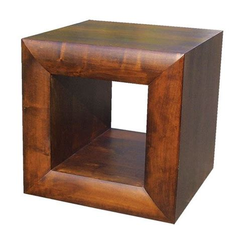 Cube Side Table Michigan Wood Furniture Side End Cube L Table