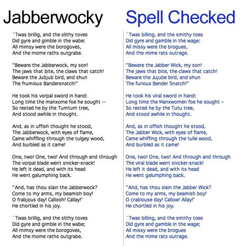 printable version of jabberwocky 17 best images about jabberwocky on pinterest nonsense