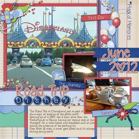 scrapbook layout disneyland ideas trip report digital scrapbook kit disney scrapbook road