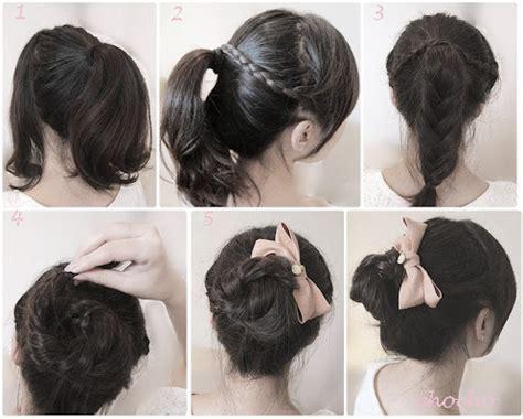 tutorial rambut pendek ala indonesia cara ikat rambut ala korea terbaru 2013 korean pop info
