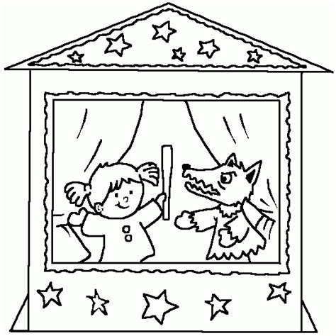 A Coloring Puppets Free Kids Coloring To Print Puppet Coloring Pages
