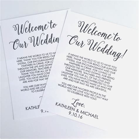 Wedding Welcome Bag Letter Template Collection Letter Template Collection Welcome Bag Letter Template
