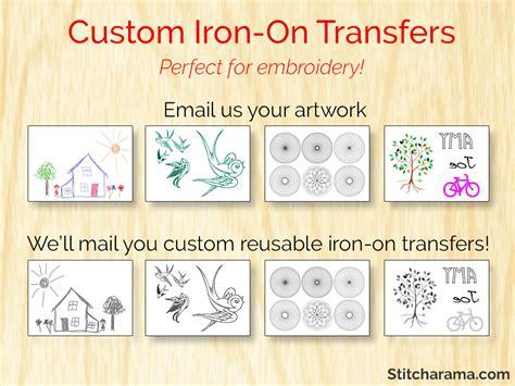 printing iron on embroidery transfers custom iron on embroidery pattern transfers stitcharama