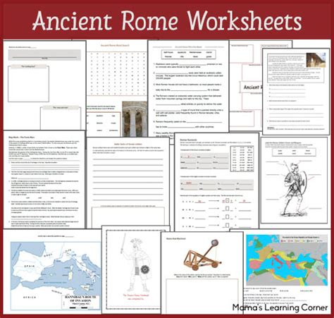 ancient rome worksheets mamas learning corner