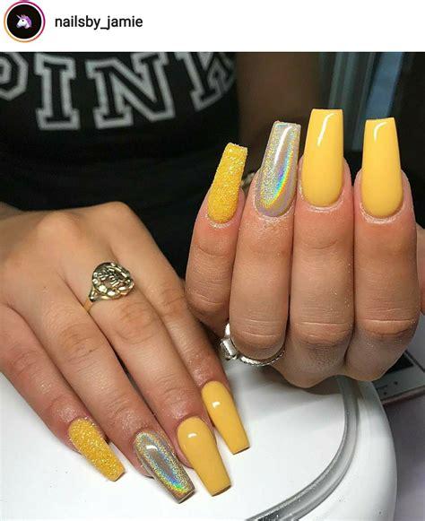 Mustard Yellow Nail Designs