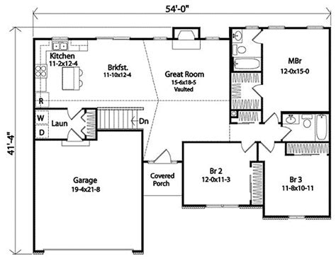 Functional House Plans by Functional Ranch Home Plan 22042sl Architectural