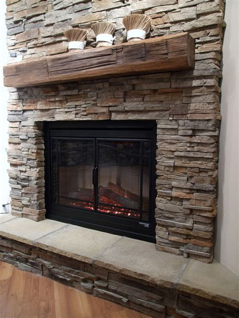 fireplace with stone faux stone fireplace houzz