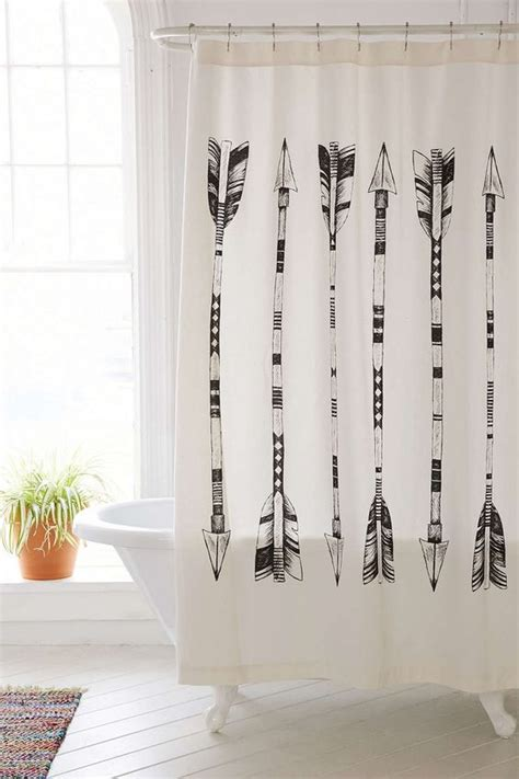 shower curtains home outfitters 4040 locust black white arrows shower curtain urban