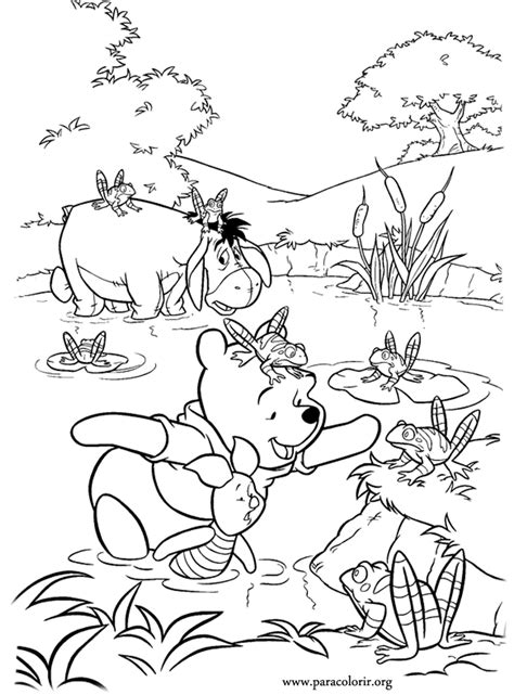 winnie the pooh and friends coloring pages coloring home