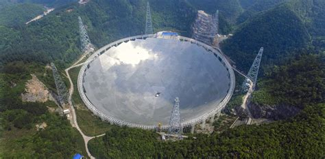 world s china completes world s largest radio telescope