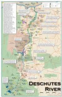 oregon river maps and fishing guide lower deschutes river map