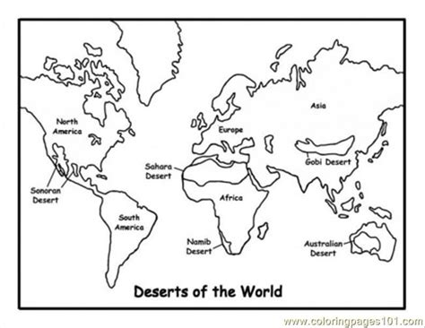 coloring page map of asia map of deserts coloring page free maps coloring pages
