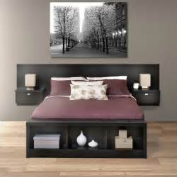 Bed Frame With Headboard Storage Platform Storage Bed With Floating Headboard In Black Bbx Bhhx Bed